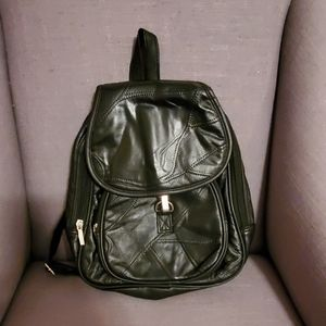 DONATING! Cute Leather Backpack